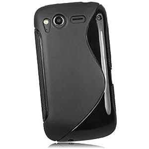 mumbi TPU Silikon Schutzhülle für HTC Desire S Hülle schwarz