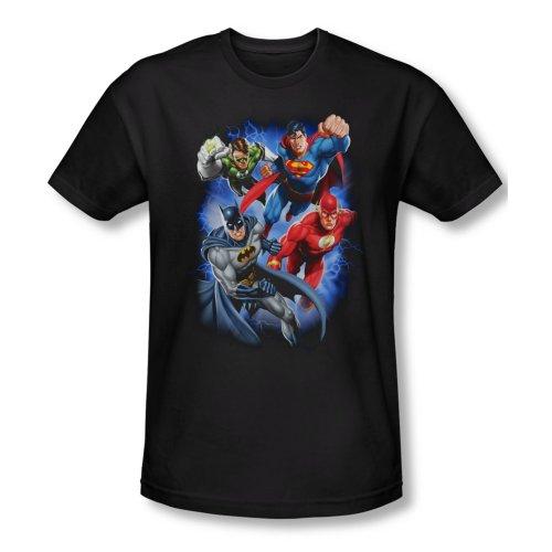 Justice League - Storm Makers (Slim Fit) T-Shirt Größe XL (Impressum-maker)