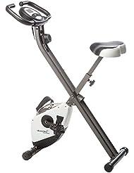 Skandika Foldaway X-1000 - Bicicleta estática fitness - 8 niveles de resistencia - máx.110 kg (Blanco)