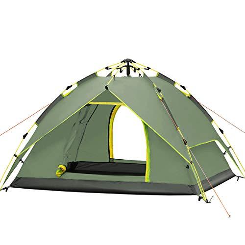 Hydraulische Kuppel Zelt Überdachung Für Camping Automatische Wasserdichte Hydraulische Zelte 3-4 Person Überdachung Einfach Zu Installieren Und Paket Green Von Qisan
