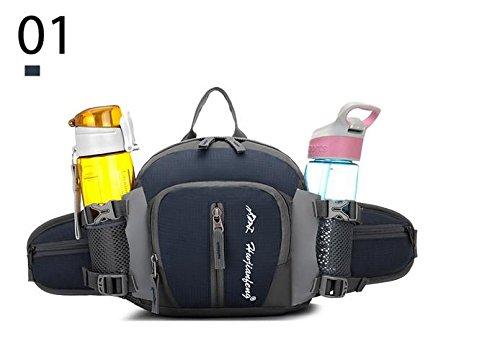 Zll/Outdoor Sport Klettern Bag Schulter Geldbörse Herren und Frauen reisen Rucksack Wasser Flasche Tasche Grau
