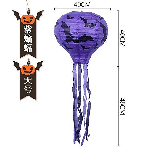 Mjia Lamp Halloween-Schnur,Kürbis-Licht, Heißluft-Ballon-Papier, Laternen-Gurt, Hotel-Dekoration, Leistungs-Stützen, D