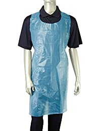 Royal Blue Lightweight Poly Aprons, 71 cm x 117 cm, Package of 100