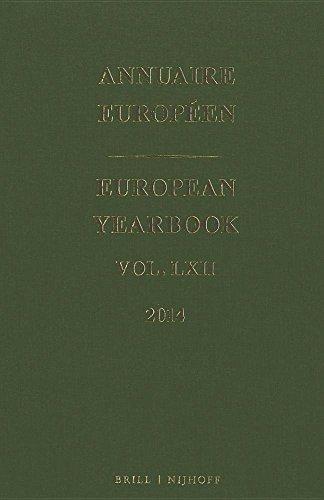Annuaire Européen 2014 / European Yearbook 2014