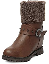 TEN Brown Synthetic Leather Boot & Uggs