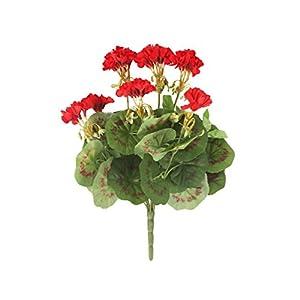 Closer2nature geranio artificial, P1, rojo, 38 cm