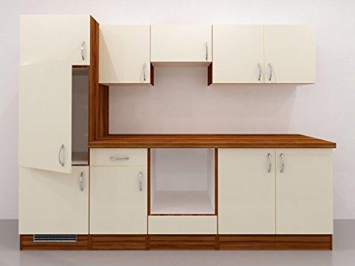 Varianten flex well exclusiv küchenzeile sienna 270 cm ohne e geräte creme zwetschge ab 464 99 €
