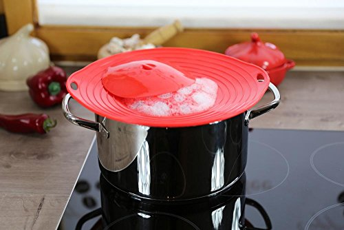 Culinario Couvercle de protection contre les débordements idéal pour les casseroles d'un diamètre de 16 à 28 cm
