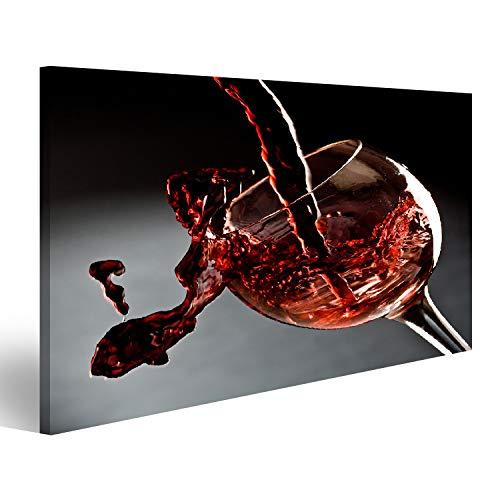 Bild Bilder auf Leinwand Rotwein, der in Ein Weinglas gießt Wandbild, Poster, Leinwandbild Nms