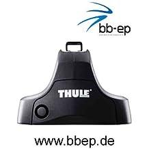 Thule Premium Dachträger / Lastenträger für Seat Léon III / Leon 3 – 5 Türer Schrägheck ab Baujahr 2013 bis heute - Komplettsystem mit Stahltraversen und Schloss