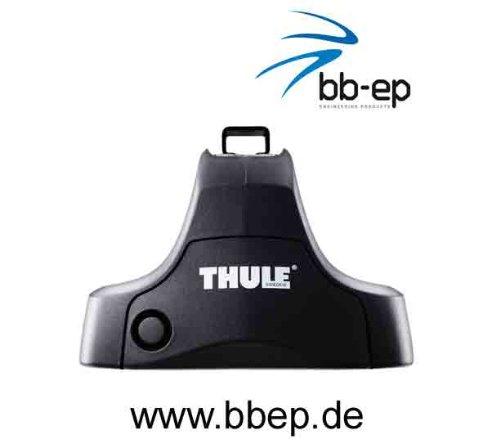 Thule Premium Dachträger / Lastenträger für Seat Altea – 5 Türer Schrägheck ab Baujahr 2004 bis heute - Komplettsystem bestehend aus Thule Fußsatz 754, Kit 1354 und Stahltraversen 769 Abschließbar inkl. Schlosssatz 544