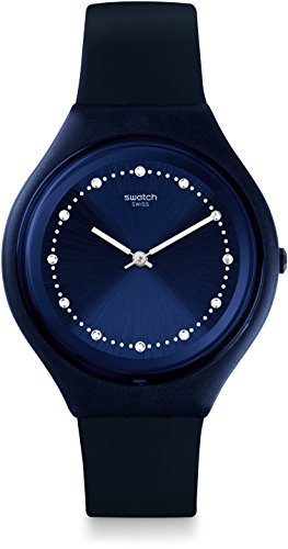 Swatch Reloj Digital de Cuarzo Unisex con Correa de Silicona – SVUN100