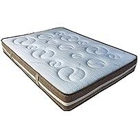 Soja Natural 90 x 190 con Memoria de Forma colchón 24 cm Grosor + 1,5 cm de Espuma con Memoria de Forma de 65 kg/m3 + Independencia de Dormir + Apoyo: ...