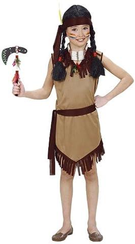 Widmann 02608 - Kinderkostüm Indianerin, Kleid mit Gürtel und Stirnband, Größe 158 (Karnevals-kostüm-ideen Für Mädchen)