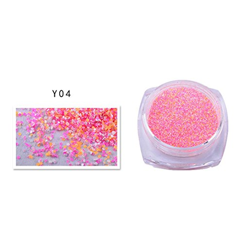 JIANGFU 2g Dazzling Gut aussehend Stilvoll gemischte Farben Nagel Sand Powder Glitter Glitter 12 Farben Maniküre (D) - 2g Sand