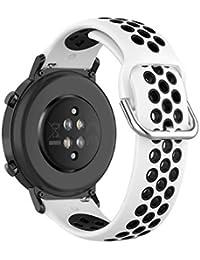 KOMI Correa de silicona para reloj de 20 mm, 22 mm, para mujeres y hombres y hombres