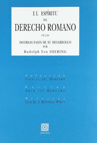 EL ESPIRITU DEL DERECHO ROMANO