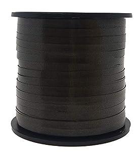 Unique Party 48632-Cinta de Regalo, Liso, Color Negro, 90 Meters (48632)