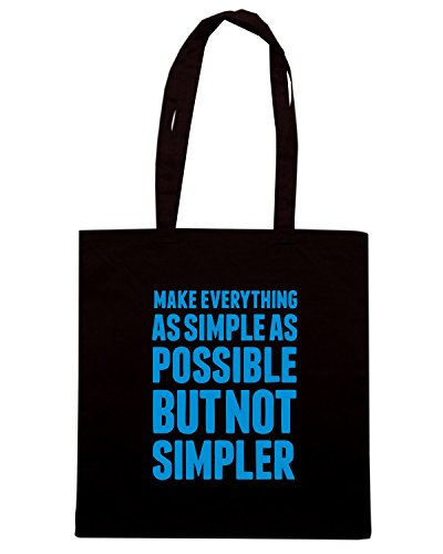 T-Shirtshock - Borsa Shopping CIT0161 make everything as simple as possible but not simpler Nero