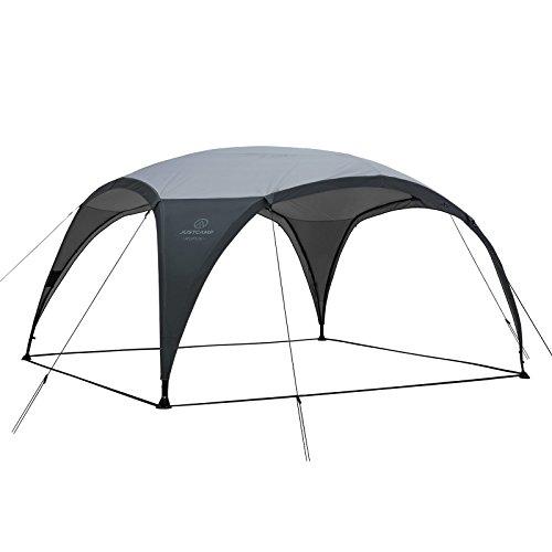 Justcamp Rufus Pavillon (4,3 x 4,3 m), Shelter für Events, Vorzelt, Sonnenschutz - grau