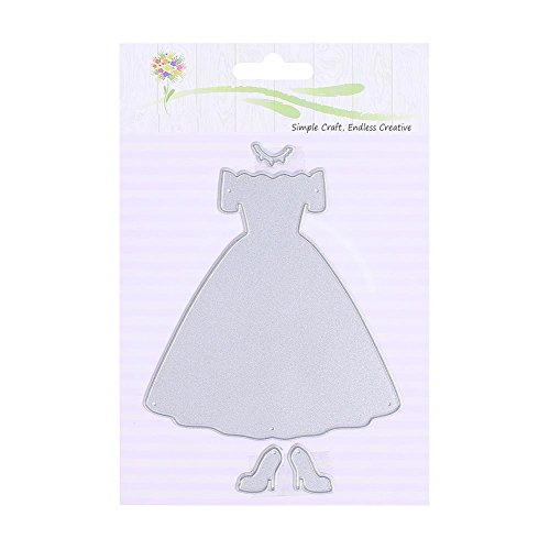 Nelnissa Metall Stanzformen Prägeschablone für DIY Scrapbook Karte Basteln Dekoration, 3pcs Formal Dress Shape, 3pcs Formal Dress Shape