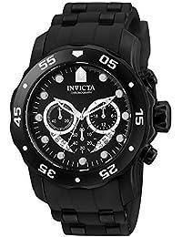 Invicta Pro Diver - Scuba Men's Wrist Watch Stainless Steel Quartz Black Dial - 6986