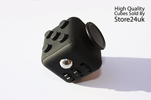 Fidget Cube 1Pcs 6-side Toy Stress Relief For Adults Children 12+ PRE ORDER 10 NOV - 14 NOV (Black)