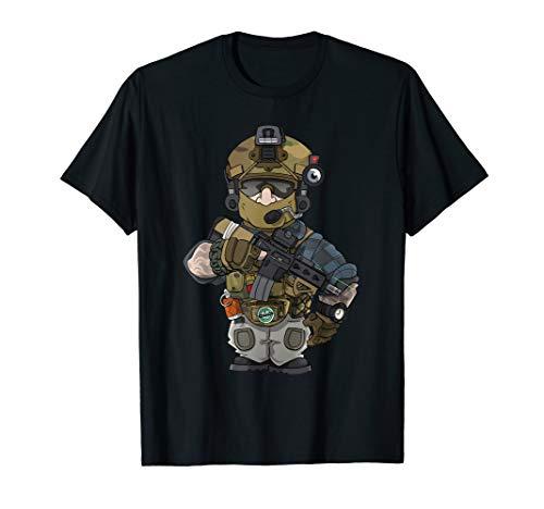 BB Headz Airsoft Airsofter MilSim PMC Operator  T-Shirt (Gun-alle Schwarz Bb)