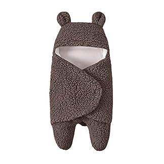 Mitlfuny Swaddle Wrap Saco de Dormir para Bebé Niños Invierno Grueso Pelo de Cordero Manto Envolvente Recién Nacido Cochecitos Sillas Carrito Multifunción Dibujos Animados Mantita 0-12 Meses Infantil