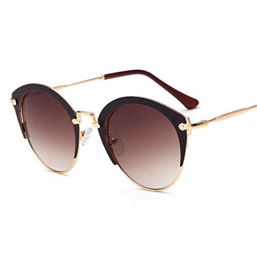 GCC Die Sonnenbrille Retro Hälfte Frame 蛤 objektiv Sonnenbrille C