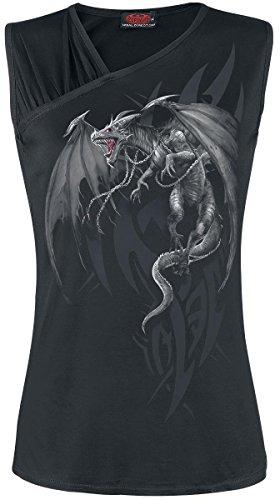 Spiral Dragon's Cry Top Femme noir Noir