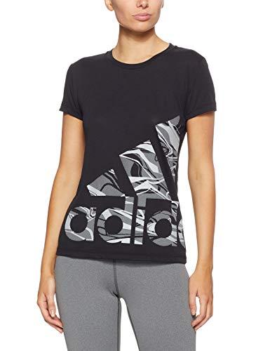 adidas Damen Adi Logo Kurzarm-Shirt, Black, M (Jersey T-shirt Crewneck Damen)