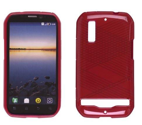 Wireless Solutions 348692 Silikon-Schutzhülle für Motorola Photon 4G, Rot
