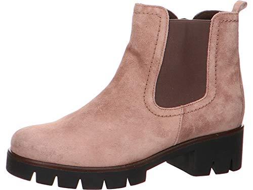 Gabor 34.710 34 Damen modischer Chelsea Boots Veloursleder Best-Fitting-System, Groesse 38, rosé