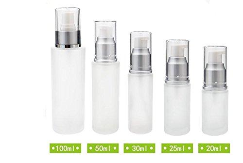 Leere Lotion Creme Pumpe Milchglas Flasche Behälter 30/50/100ml 100ML + 30ML + 50ML