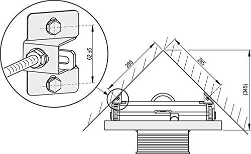 Bidet Vorwandelement für Eckmontage Hänge-WC, Vorwandmontagerahmen, pulverbeschichtet, korrosionssicher, Bauhöhen 45 85 100 120 cm, Größe:120cm