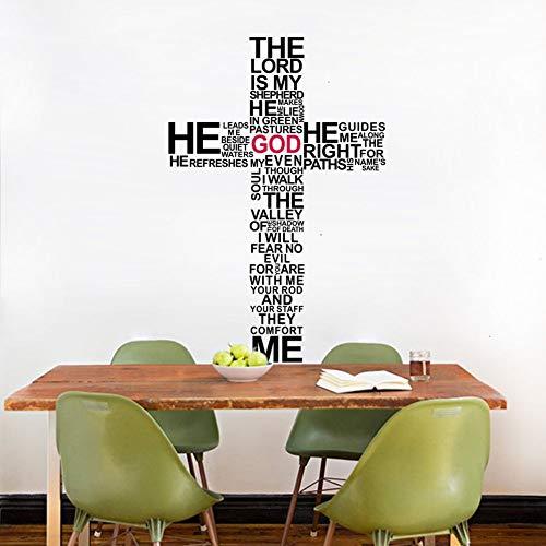 wandaufkleber 3d Kreuz Jesus Christus Psalm beten Bibel Gott Schlafzimmer -