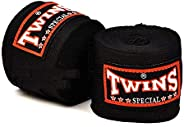 BOXING WRAPS BANDAGE ELASTIC TWINS 4mtr Pairs BLACK