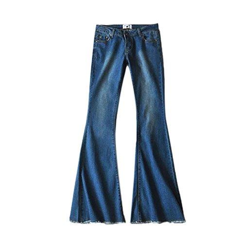 Huateng Pantalones de Campana de Mezclilla Transpirables de Alta Elasticidad Pantalones Modernos...