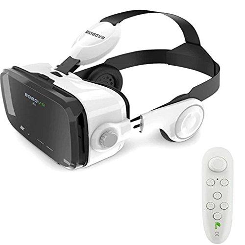 BOBO VR Z4 3D GLASSES HEADSET:110-120 Degree FOV For Best Immersive Experience:: Inbuilt Bass Boost Surround Sound Headphones:: Inbuilt Call Answer -  at amazon
