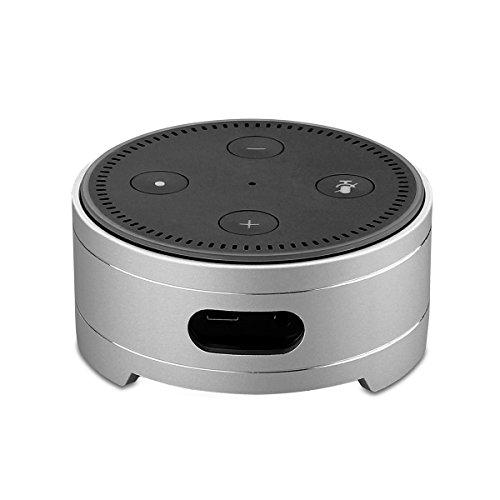 Echo Punkt Standplatz, Aluminiumlegierung Lautsprecher Standplatz-Schreibtisch Lautsprecher Schutz-Station für Amazonas Echo Punkt 2 Generatoin Alexa Sprachsteuerung-perfekter Schutz für Alexa (Silber)