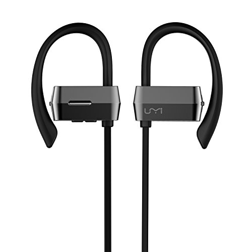 Cuffie bluetooth sport, Umidigi cuffie auricolari Sweatproof stereo In-Ear musica cuffie auricolari wireless Bluetooth 4.1, con ganci di sicurezza