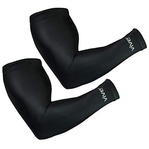 VIVE Basketball Ärmel (Paar)-Compression Arm Sleeves für Basketball, Fußball, Laufen-Arm Unterstützung verbessert die Durchblutung, beruhigt Muskeln, leitet Feuchtigkeit