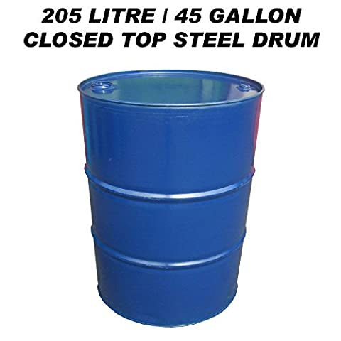 205 LITRE/45 GALLON CLOSED TOP STEEL DRUM / BARREL / CONTAINER FOR DIESEL / GASOIL / BBQ