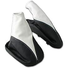 LP A105-1 Schaltsack Schaltmanschette Handbremsmanschette aus 100 Prozent ECHTLEDER Leder in Schwarz perforiert