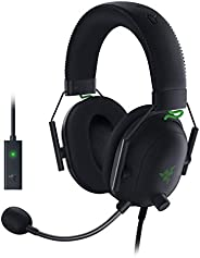 Razer Blackshark V2 with USB sound card - Premium Esports Gaming Headset (wired headphones with 50mm driver, n