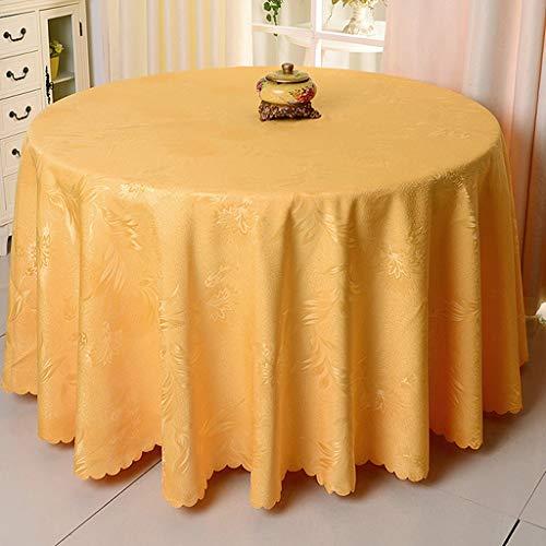 (Tablecloth Vbimlxft Tischdecke, rund, für Hochzeit, Hotel, Esstisch, Tisch, Rock, verblasst Nicht und strapazierfähiger Stoff, Polyester, goldgelb, Diameter320cm)