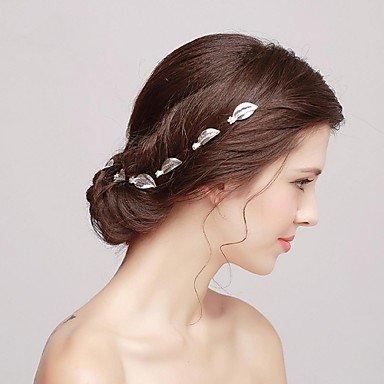 /Legierung Headpiece-Wedding/Besondere Anlässe/OutdoorFlowers/Kopf Kette/Haar Pin/Haar Stick 3 Stück, Sliver Kopfbedeckung (Strass Halloween-pins)