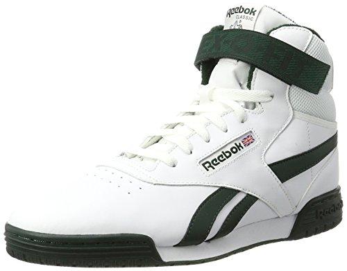 Reebok Herren Ex-O-Fit Clean Hi S Hohe Sneaker, Weiß (White/Dark Forest), 40.5 EU