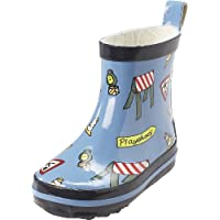 Playshoes Boys Rubber Boots Traffic Sign Allover Short